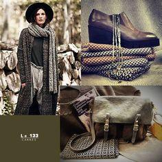 La boho de cet hiver 2015 Chaussures Shoes PONSQUINTANA Sac Bags CRAIE Foulards et bijoux. Accessoires de mode en vente à la Boutique Le 133 à CANNES France