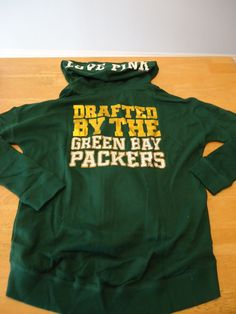 VICTORIA SECRET PINK NFL GREEN BAY PACKERS bling zip up JACKET HOODIE M in  Clothing 2c2155006