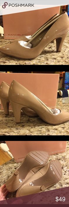 Brand new Bandolino natural mid heel pumps New with box- tried on in house and never worn-gorgeous natural nude color pumps. Made by Bandolino with 3 inch heel. This color is hard to find and goes with everything-too high for me to wear. Size 7 medium. Bandolino Shoes Heels