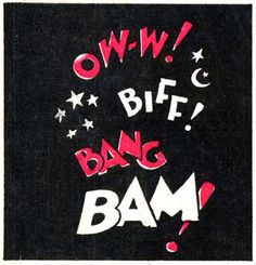 """Oww biff bang bam   """"Mickey Mouse Outwits the Phantom Blot""""; (1939) by Floyd Gottfredson"""