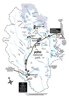 Map of Yoho National Park