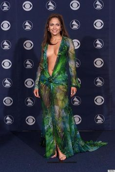 """Jennifer Lopez wore the most iconic dress of the decade -- perhaps the century -- to the 2000 Grammy Awards. Although the skin-baring green Versace gown raised eyebrows and made headlines at the time, Jennifer had no idea it would be such an enduring sensation. The star told People magazine: """"It didn't seem that out-there to me. It was a good-looking dress. I had no idea it was going to be such a big deal."""""""