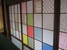 the paper and wood Window : 障子