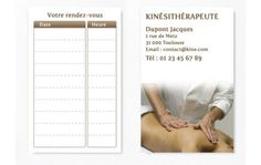 Cartes De RDV Simple Kine Rdv Carte Visite Portrait
