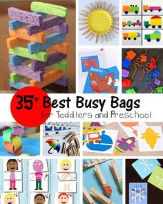Keep kids occupied, quiet and learning with fun busy bags. Kids learn while they play! These busy bags are perfect for preschool and toddlers.