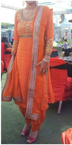 Orange Punjabi Suit