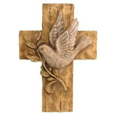 New Creative 26382 Seeds of Faith Cross Wall D?cor, Dove, 7.5-Inches x 9.75-Inches
