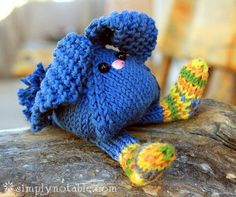 Tumbling Bunnies Free Knitting Pattern - I know a bunch of kids who will love this and a couple dogs too!