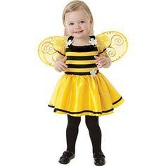 Baby Little Stinger Bee Costume - Baby Girl Costumes - Baby Costumes - Halloween Costumes - Party City Toddler Girl Halloween, Cute Costumes, Halloween Fancy Dress, Halloween Costumes For Girls, Baby Costumes, Halloween Halloween, Halloween Meninas, Halloween Mignon, Toddler Girls