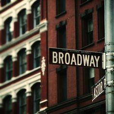 "New York City NYC Photograph - ""Broadway"" - 10 x 10 Fine Art Print by 19sixty4 via Etsy #fpoe"