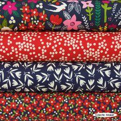 Carolyn Gavin Swallow Garden Fabric