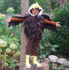 Lattjo eagle costume 1499 ikea halloween 2015 halloween kids no sew bald eagle costume solutioingenieria Image collections