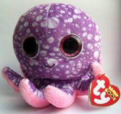 Beanie boo, Legs the Octopus. Cute Eyes, Big Eyes, Big Eyed Animals, Ty Beanie Boos, Beanie Babies, Random Kid, Ty Toys, Cute Beanies, Cute Stuffed Animals