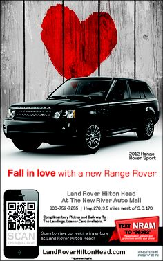 A Magazine Ad I designed for Land Rover Hilton Head At The New River Auto Mall