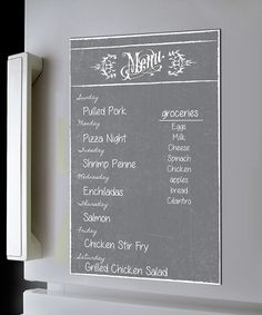 Another great find on #zulily! Gray Dry-Erase Menu Magnet by a'la Board #zulilyfinds