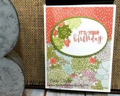 Creating with Becky's Stamping Spot | blog  Succulent Garden DSP,  Balloon Adventures, Oh So Succulent, Stampin' Up!. Birthday cards, greeting cards