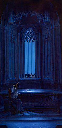 dark souls official art: gwyndolin in anor londo. Bloodborne, Dark Souls Art, Dark Art, Fantasy Rpg, Dark Fantasy, Medieval, Monster Design, Soul Art, Painted Books