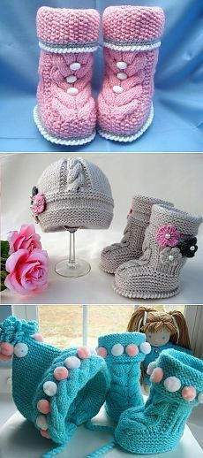 ideas crochet baby girl boots to get for 2019 Knitting Baby Girl, Baby Girl Crochet, Crochet Baby Booties, Baby Knitting Patterns, Baby Patterns, Knitted Booties, Crochet Boots, Crochet Slippers, Knitting Projects