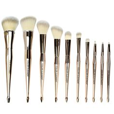Mermaid Makeup Brushes Set - 10 Pcs Premium Professional Face Eye Shadow Eyeliner Foundation Blush Lip Brushes Powder Liquid Cream Cosmetics Brush Tool. Super soft but not stiffly dense bristles & high quality handles: No shedding, with the cruelty-free bristles which are well made of soft synthetic fibers, you would feel amazing on your skin, Durable handles with high quality materials promise that the cosmetic brushes won't be easy to get broken. 10 in 1 full function set meets all your...