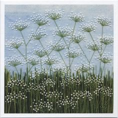 Cow Parsley Skyline single card with envelope. This card is blank inside for your message on any occasion.