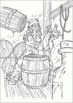 kleurplaat van pirates of the caribbean 3