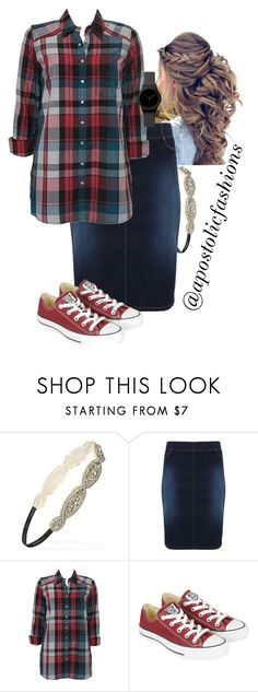 """""""Apostolic Fashions #1807"""" by apostolicfashions ❤ liked on Polyvore featuring Forever 21, Topshop and Converse"""