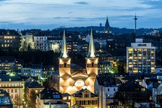 Wuppertal, Blick auf Luisenviertel und Ölberg