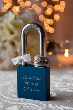 Custom Engraved Love Padlocks Lockitz, LLC on Etsy, $39.99