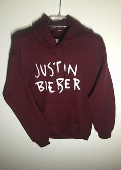 Hoodie Justin Bieber by AnjelicKouture on Etsy  Checkout my page for all kids of sweater, sweats and activewear. www.sweatersandsweats.com