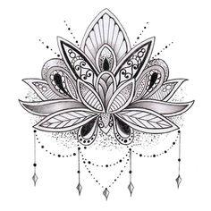 Nice Mandala Lotus Tattoo (3)
