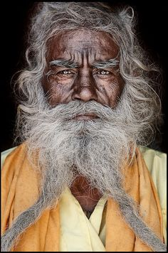 Mario Gerth travelled across India and Nepal to photograph Sadhus, the Hindu holy men who live their lives away from everyday society, shunning home comforts for a life spent inside caves, forests and temples Mario, Moustaches, Beautiful Men, Beautiful People, Beautiful Babies, Interesting Faces, World Cultures, People Around The World, Portrait Photography