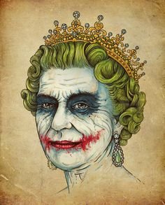 The Queen, why so serious?