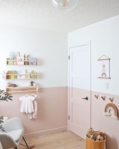 The Nursery Reveal – Baby Girl E's New Room baby girl nursery, nursery reveal, pink nursery, modern baby nursery<br> Incredibly excited to show off our baby girl's nursery reveal - a soft and serene space with modern pink and some beautiful details! Baby Room Boy, Baby Bedroom, Baby Room Decor, Child Room, Ikea Baby Nursery, Baby Room Colors, Babies Nursery, Baby Baby, Kids Rooms Decor