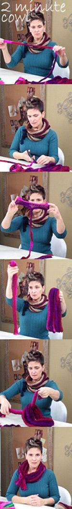 """Stretch"" yourself a fashionable cowl that you can make in just a few minutes. No knitting needles or crochet hooks required. Just two hands, a few minutes and your imagination are all you need!  Watch this video: http://www.youtube.com/watch?v=3RXNpEPqrFE&feature=share&list=PLV7i0FGwmpbdcMBW9VaYQvtuxDDqmUE1v  Now go get the Strata! http://www.anniescatalog.com/collections.html?collection_id=990&cat_id=440"