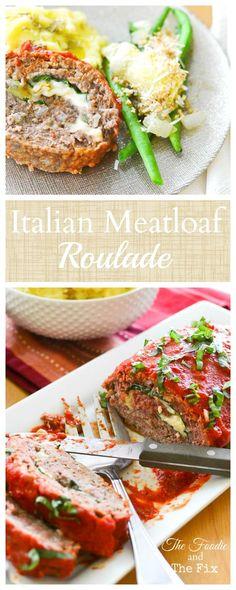Mozzarella & Basil-stuffed Meatloaf Roll! YUM!! 21 Day Fix: 1 RED, 1/2 BLUE…