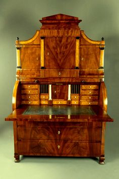 Important cylinder bureau palm secretaire mahogany Biedermeier the first time. Hometown: was the property of Charlton Manor, England, until 1899, when it acquired the company prestigious Waring & Gillows.