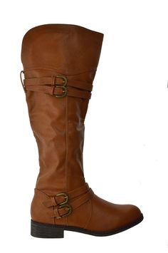 Fay 42 Womens Knee High Buckle Riding Boots Tan >>> Hurry! Check out this great item : Boots Shoes