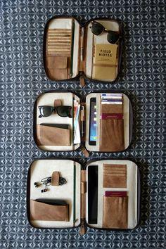 PORTEFEUILLE de voyage en cuir passeport petit porte par HOUSEofLH