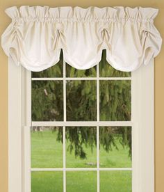 Find your favorite Country Curtains and drapes, kitchen valances, lace and sheer curtains, energy efficient thermal door panels and other window treatments at the Vermont Country Store. Balloon Curtains, Hanging Curtains, Sheer Curtains, Valance Curtains, Valance Ideas, Window Valances, Bedroom Valances, Home Curtains, Country Curtains