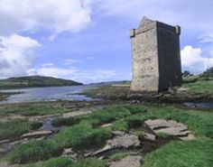 "Another of Grainne's castles, and the one which was most ""hers"". :)  Rockfleet, in Clew Bay"