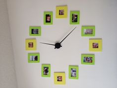 I couldn't think of anything to do with this big blank wall so I decided on a large clock with pictures of my friends and family.  I got the frames from Michael's and painted them and ordered the clock hand on Amazon.  Super cheap and Super easy :)
