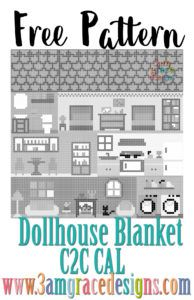 20 Best 3AMGRACEDESIGNS | Dollhouse C2C Blanket CAL images