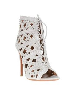 Azzedine Alaia Grey Studded Open Suede Low Boots- Short and Chic Booties That Aren't Just For Fall