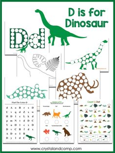 My boys have all loved dinosaurs. They love playing with them, reading about them, drawing them, you name it.  These dinosaur do a dot pages are perfect for p