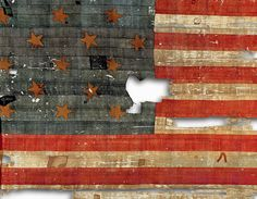 US flag that inspired Francis Scott Key to write the Star-Spangled Banner. Ralph Lauren donated to the Smithsonian to restore an preserve the flag.