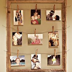 Clothespin Picture Frame