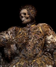 jeweled skeletons / St. Alexander 'Taken from the catacombs of Rome in the…