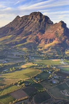 Photographic Print: South Africa, Western Cape, Stellenbosch, Aerial view of Simonsberg Mountain range and Stellenbosch by Michele Falzone : Mountain Range, Beautiful Places To Visit, Africa Travel, Science And Nature, Natural Wonders, Aerial View, The Great Outdoors, Places To Travel, Scenery
