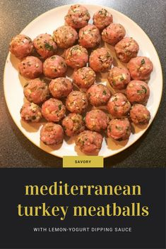 Delicious Mediterranean Turkey Meatballs, inspired by Molly Wizenberg's food memoir A Homemade Life. Brought to you by The Hungry Bookworm blog.