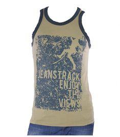 9855adc8dd Camiseta escalada flash beige hombre. Camiseta de tirantes Flash beige para  Escalada. Comprar Online. JeansTrack